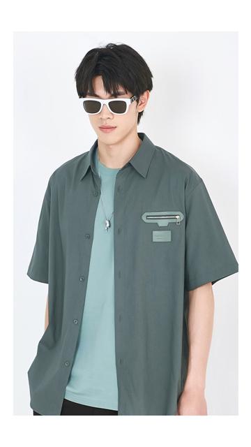 衬衣皮牌短袖男士衬衫