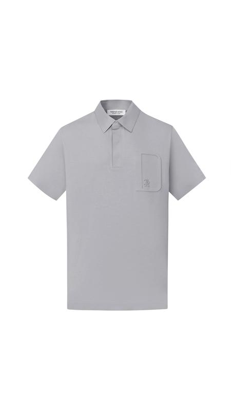 【精选货品】立体压花短袖男Polo衫