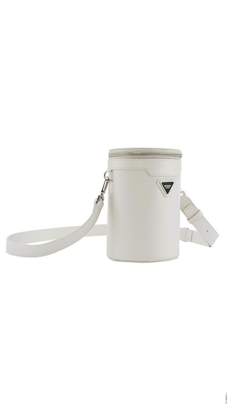 肌理牛皮革斜跨水桶包