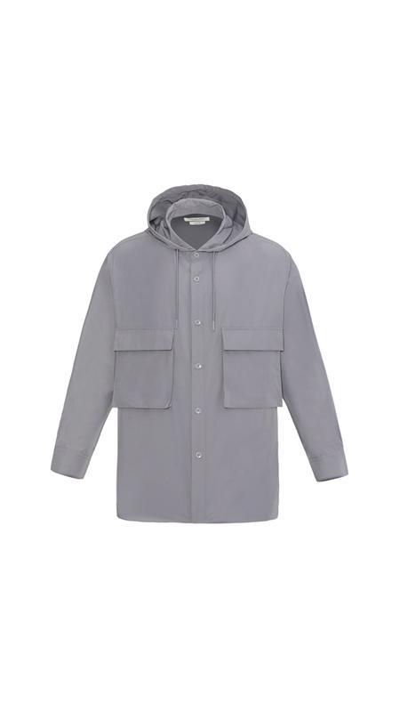 【精选货品】立体口袋连帽衬衫男士