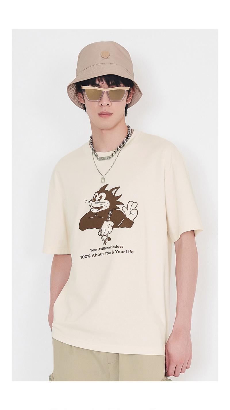 【精选货品】立体卡通刺绣短袖T恤男