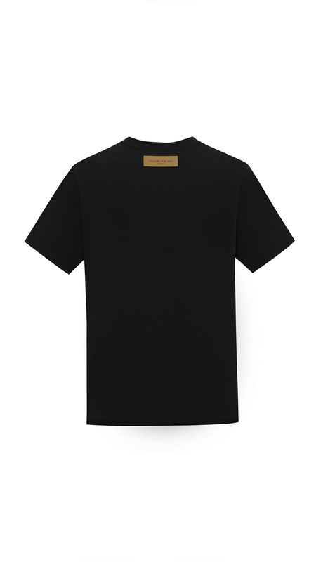 【精选货品】烫珠logo简约休闲T恤男