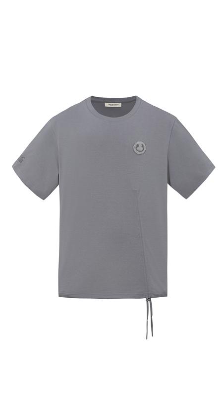 【精选货品】毛巾绣笑脸抽绳短袖T恤