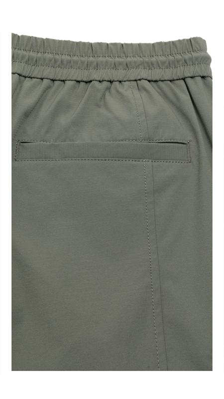 多口袋抽绳休闲九分裤