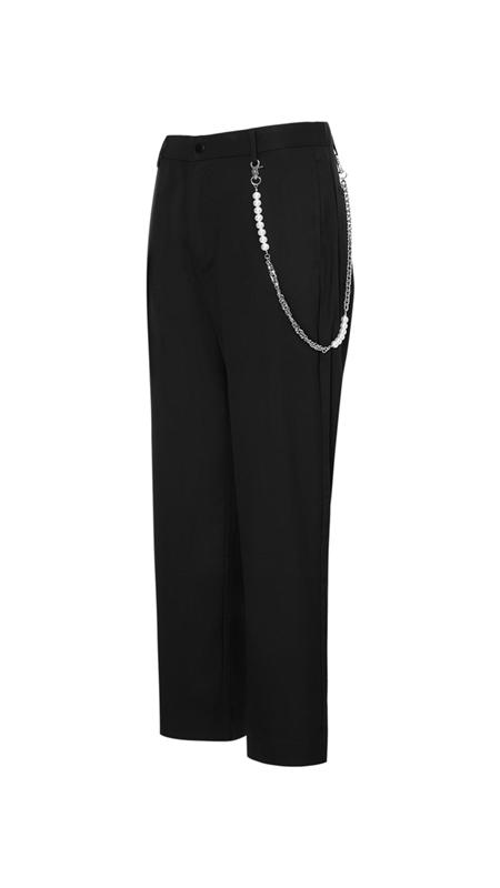 珍珠链条休闲裤长裤男
