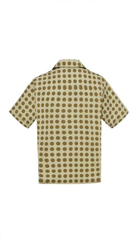 【精选货品】波普缎面波点短袖衬衫