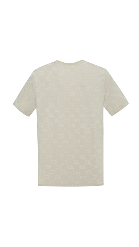 【精选货品】复古老花植绒短袖T恤男